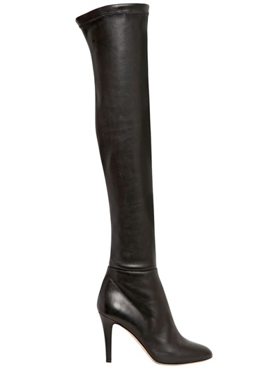 163bd614aa Jimmy Choo Toni Black Calf Leather And Stretch Nappa Over The Knee Boots