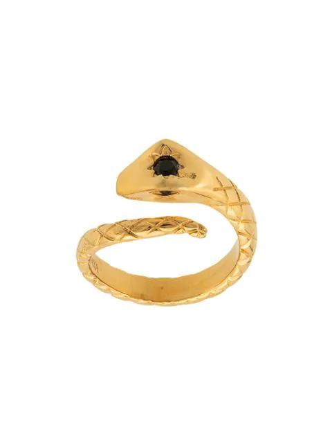 Nialaya Jewelry Skyfall Twisted Snake Ring In Gold