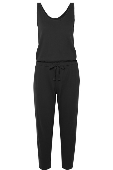 Atm Anthony Thomas Melillo High Torsion Cotton-jersey Jumpsuit In Black