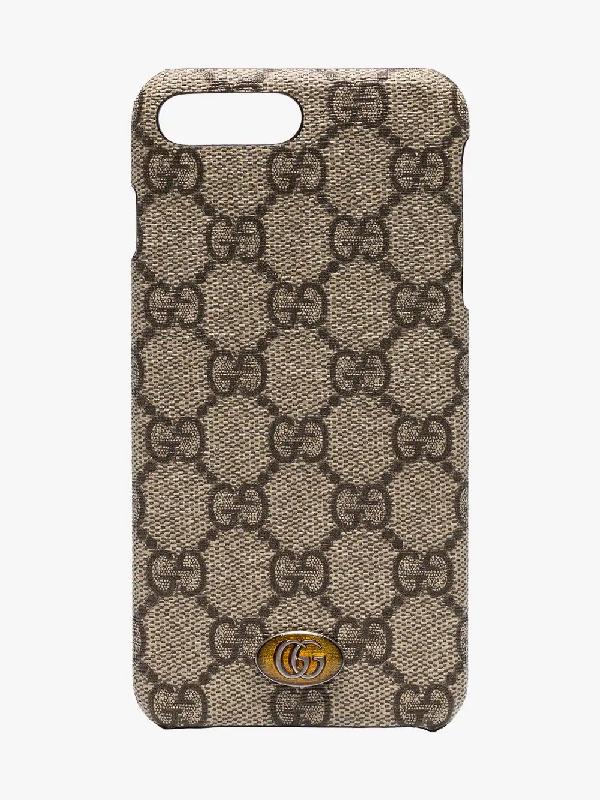 57331ddf0e34 Gucci Ophidia Iphone 8 Plus Case In Brown   ModeSens