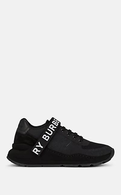 Burberry Sportschuhe Aus Leder, Nubukleder Und Mesh Mit Logo In Black