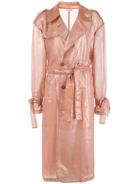 Ashish Sequin Trench Coat - 粉色 In Pink
