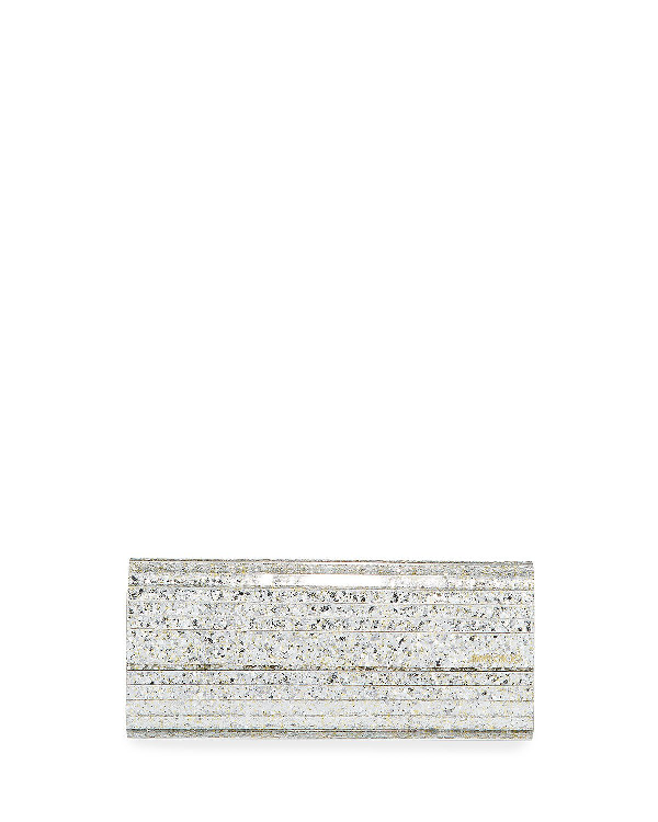 8c4dd20521 Jimmy Choo Sweetie Glittered Acrylic Clutch Bag In Neutral | ModeSens