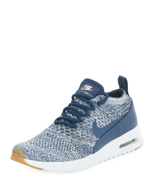 100% authentic 2860c 2efe2 Nike Women s Air Max Thea Ultra Flyknit Running Sneakers From Finish Line  In Navy