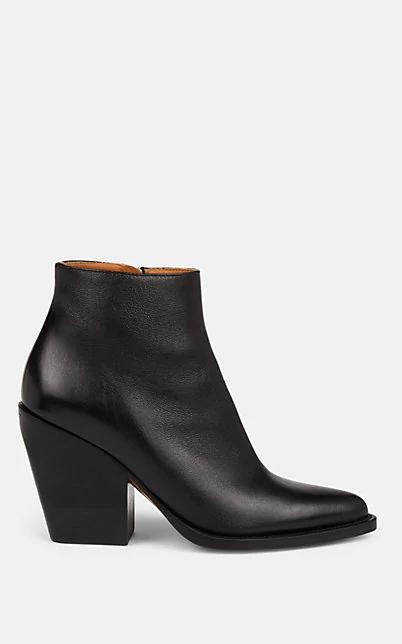 ChloÉ Rylee 90Mm Block Heel Western Booties In Black