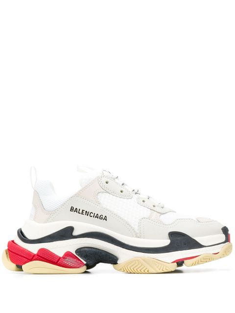 Balenciaga M Triple S Tricolour Sole Sneakers - 白色 In White