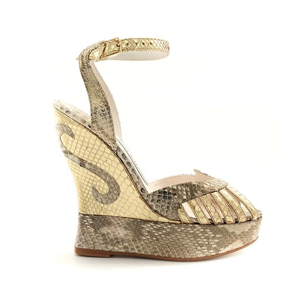 Terry De Havilland Margaux Python Gold