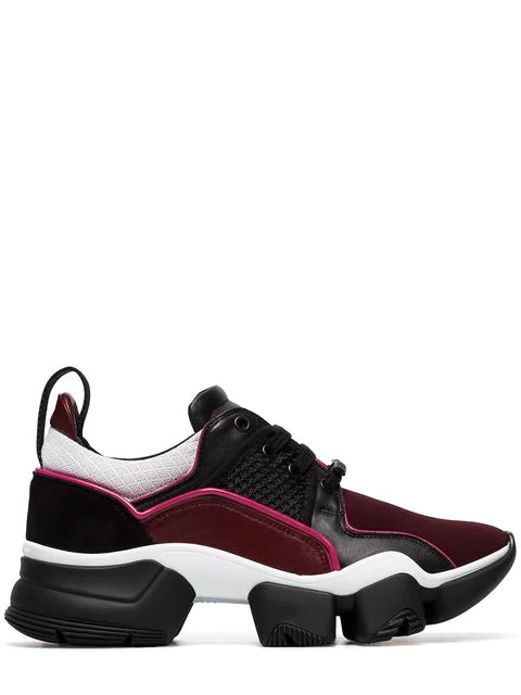 Givenchy Jaw Leather And Neoprene Sneakers In Red