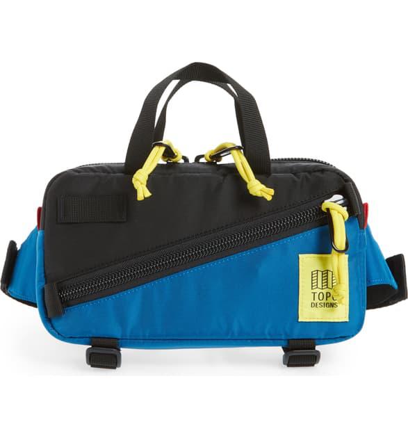 Topo Designs Mini Quick Pack Belt Bag - Blue In Royal/ Black