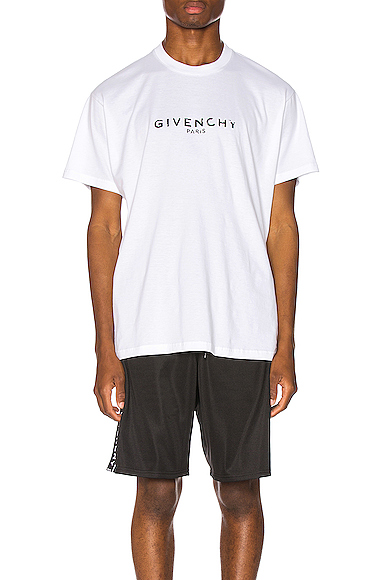 Givenchy Cuban Vintage Logo Print Jersey T-Shirt In White