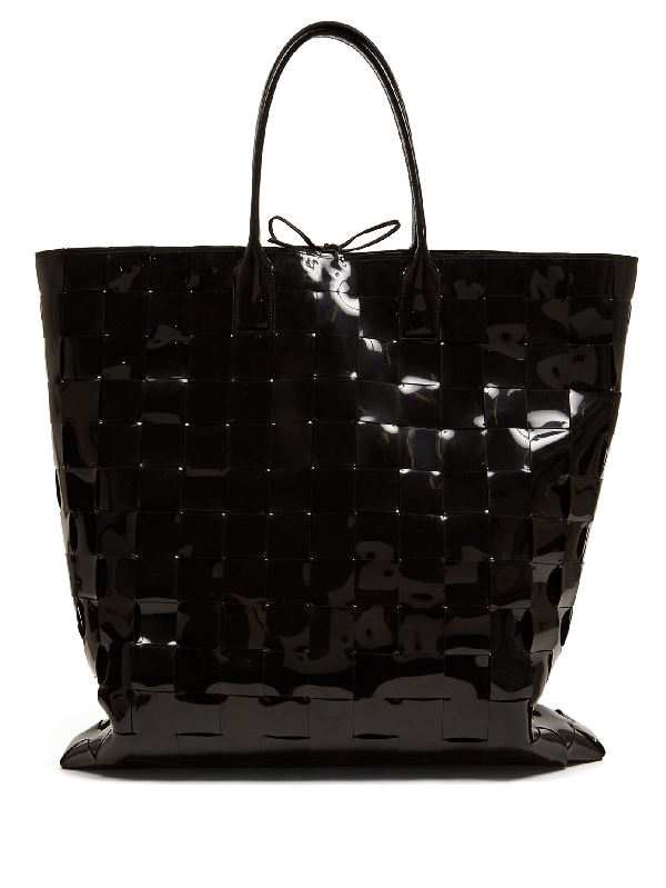 Bottega Veneta Extra-large Intrecciato Pvc Tote Bag In Black