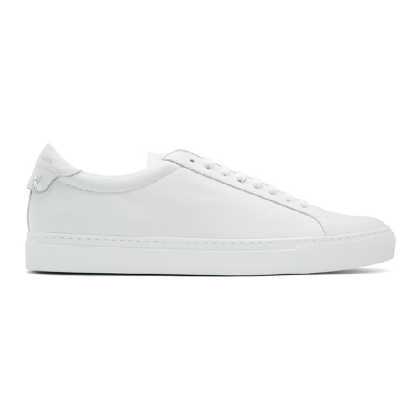 Givenchy Urban Street Two-tone Leather Sneakers In 100 White