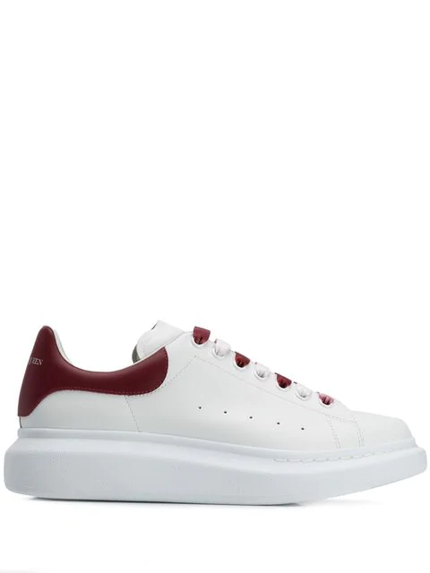 Alexander Mcqueen 'Oversized Sneaker' In Leather With DÉGradÉ Lace In 9144 White Red