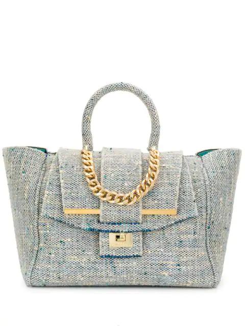 Alila Tweed Tote Bag In Blue