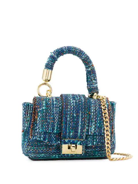 Alila Mini Tweed Tote Bag In Blue
