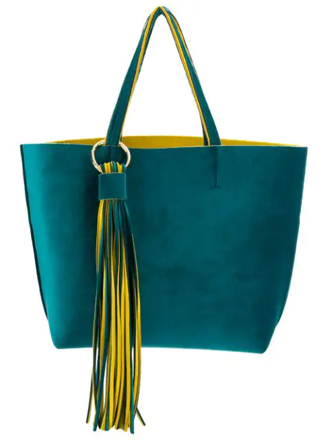 Alila Fringed Embellished Tote Bag In Yellow