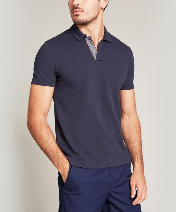 Liberty London Hanson Polo Shirt In Blue