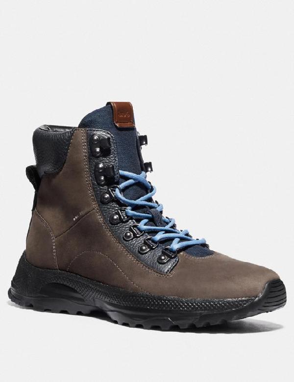 Coach Men's Hybrid Urban Suede Hiker Boots In Midnight Navy