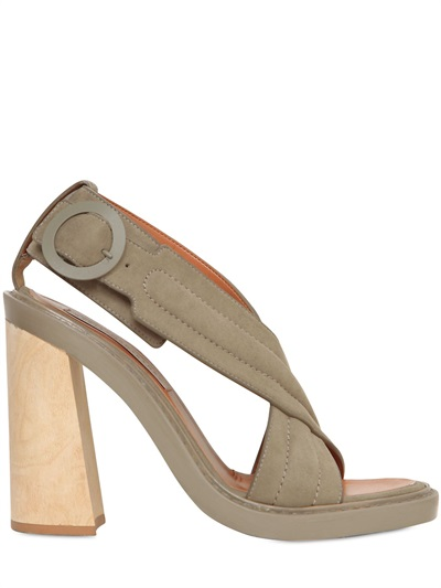 Stella Mccartney 125mm Crossed Faux Leather Sandals In Taupe