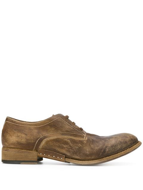 Artselab Distressed Effect Derby Shoes In Brown