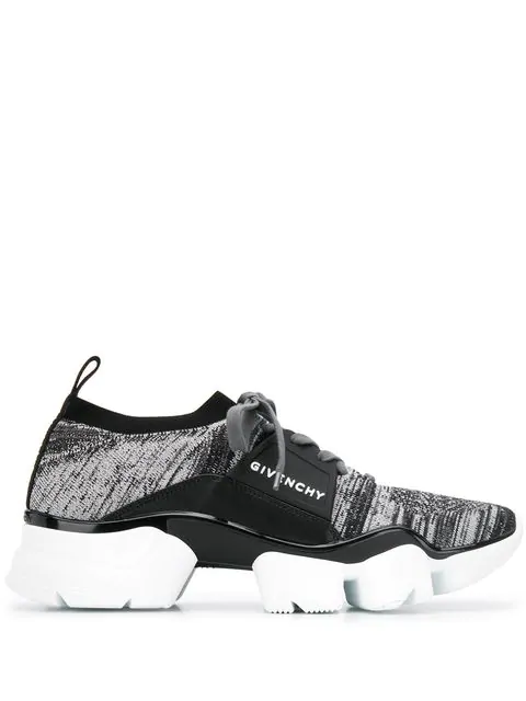 Givenchy Black & White Men's Jaw Sock Sneakers In Grey