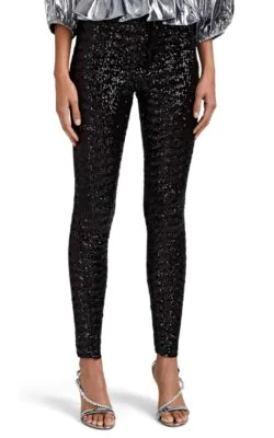Isabel Marant Odiz Sequinned Trousers In Black