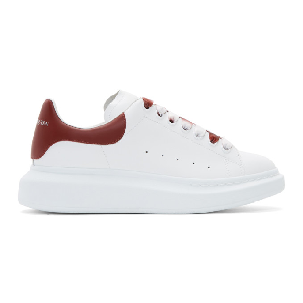 Alexander Mcqueen 'oversized Sneaker' In Leather With DÉgradÉ Lace In White