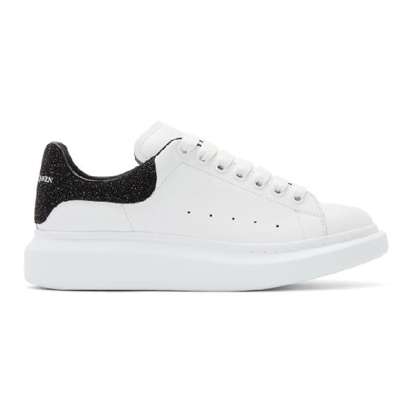 Alexander Mcqueen Men's Larry Colorblock Glitter Platform Sneakers In White