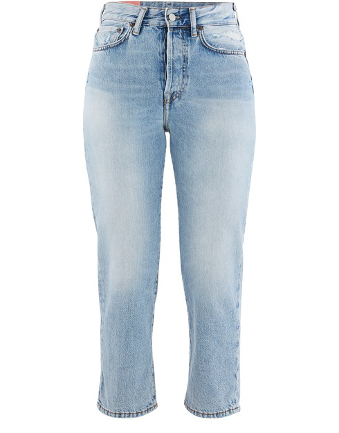 Acne Studios 1997 Distressed High-rise Straight-leg Jeans In Blue