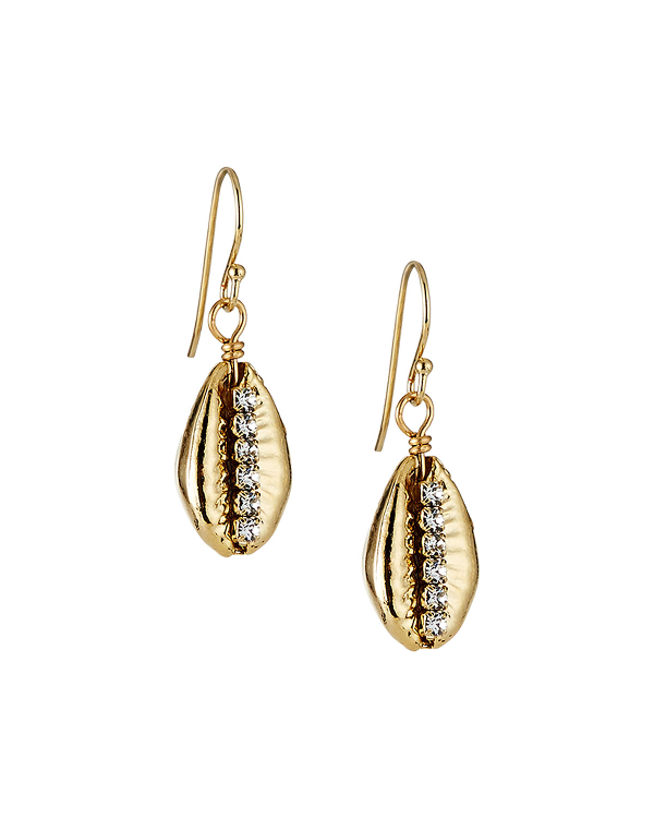 A.v. Max Cast Cowrie Bead & Rhinestone Earrings In Gold