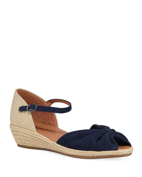1396f87b1ef Lucille Suede Demi-Wedge Sandals