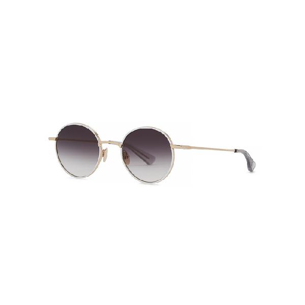 Christian Roth Aemic Round-frame Sunglasses In White