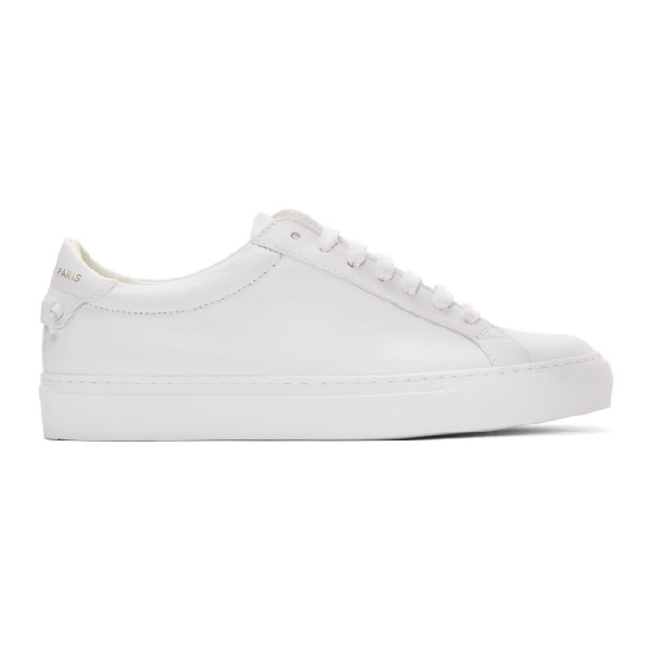 Givenchy Low-top Sneakers Urban Street L Calfskin Logo White In 104 White