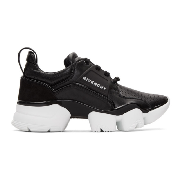 Givenchy Men's Shoes Leather Trainers Sneakers Jaw In 001-blk