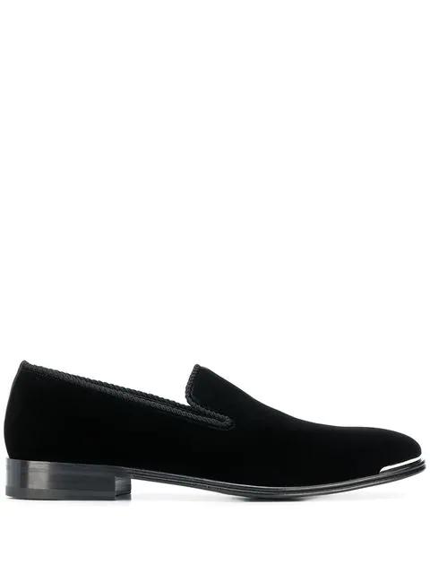Alexander Mcqueen Men's Calf Suede Slip-on Dress Shoes In Black