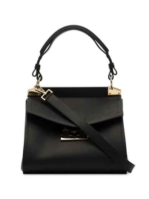 Givenchy Mystic Medium Calfskin Top-handle Bag In Black
