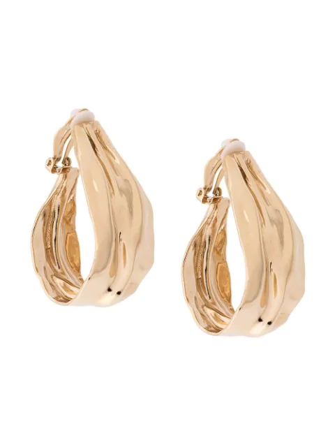 Annelise Michelson Skulpturale Ohrclips In Gold