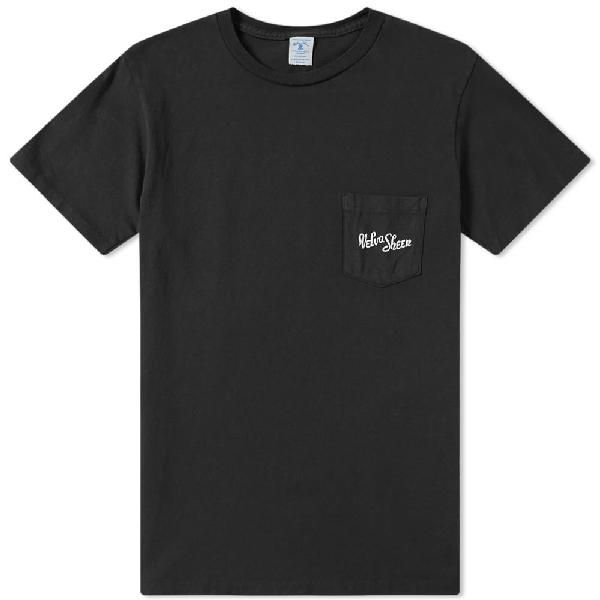 Velva Sheen Logo Pocket Tee In Black