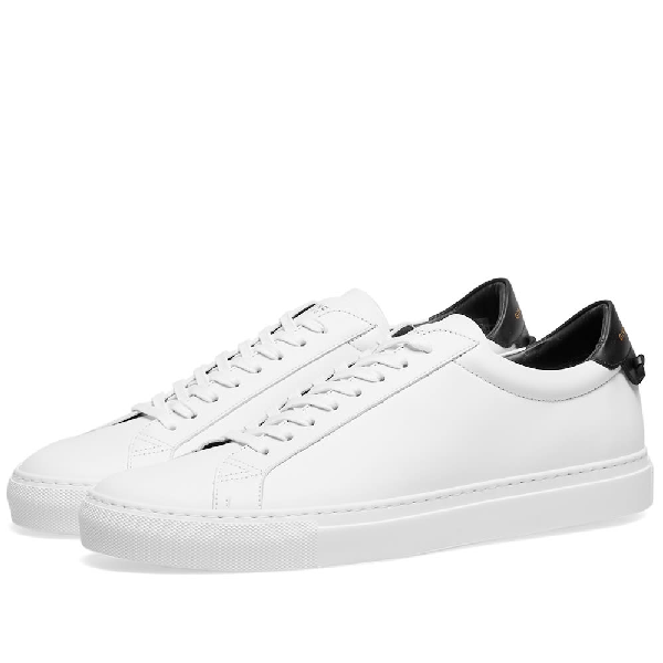 Givenchy Urban Street Two-tone Leather Sneakers In White/navy