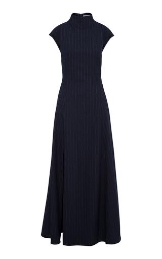 Anna Quan Rhoda Pinstriped Crepe Maxi Dress In Stripe