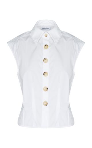 Anna Quan Peta Cotton-poplin Top In White