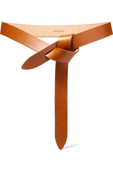 Isabel Marant 30mm Lecce Leather Belt W/bow In Tan