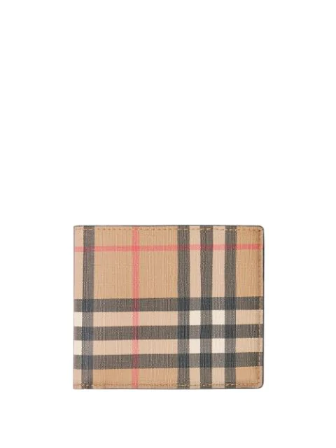 Burberry Men's Genuine Leather Wallet Credit Card Bifold  Hipfold In A7026 Archive Beige
