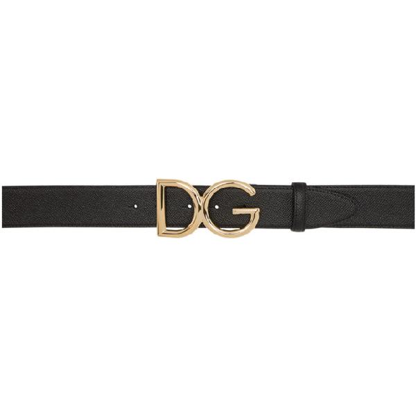 Dolce & Gabbana Interno Butterfly-Print Reversible Leather Belt W/ Logo Buckle In 80999 Black