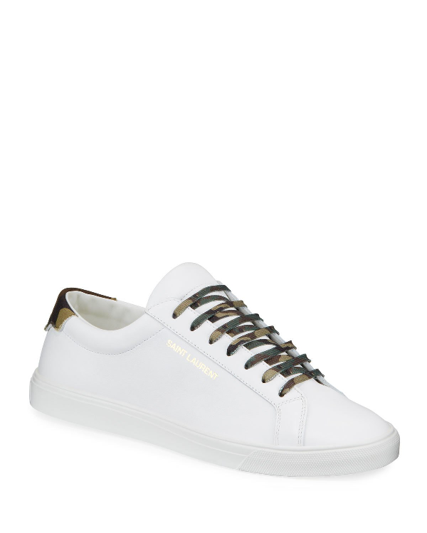 7801b968 MEN'S ANDY LOW-TOP LEATHER SNEAKERS