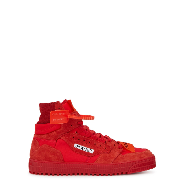"""Off-white """"off-court"""" 3.0 Red Canvas Hi-top Sneakers In Red No Color"""