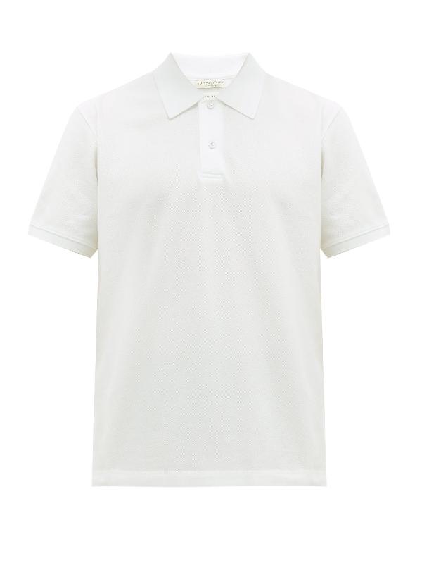 Bottega Veneta Short-sleeved Cotton-piquÉ Polo Shirt In 9122 Opptwt