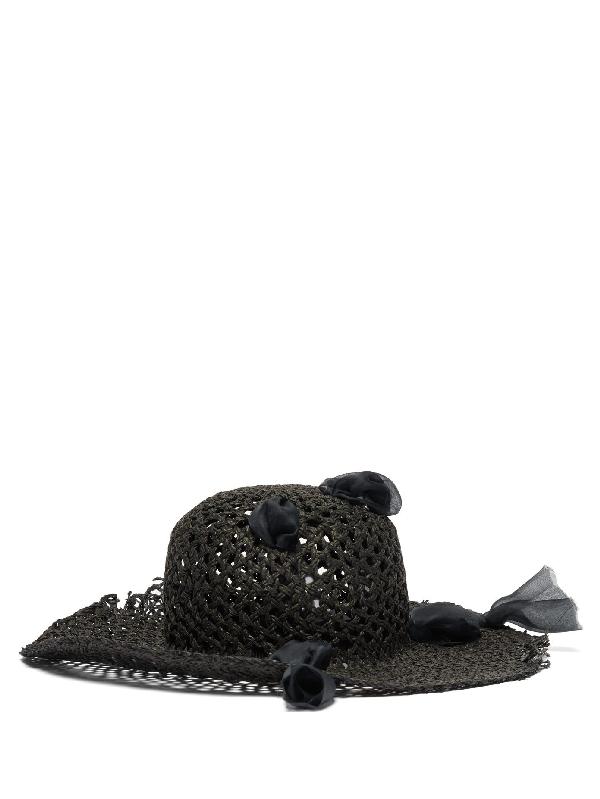 Reinhard Plank Hats Dohan Woven-paper Hat In Black