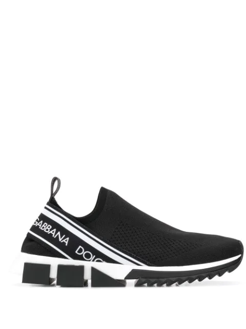 Dolce & Gabbana Sorrento Sneakers With Logo Color Black / White