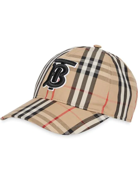 Burberry Icon Stripe Logo-embroidered Cotton Baseball Cap In A7029 Archive Beige